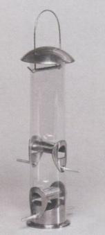 Vogelfutterstation verzinkt groß 10x33cm mit Polycarbonateinsatz Bild 1