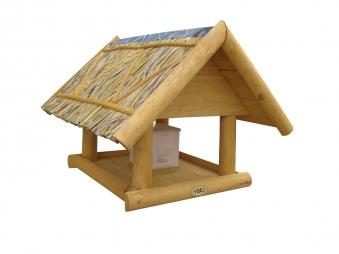 Vogelhaus / Futterhaus Habau Borkum mit Silo und Ständer Bild 1