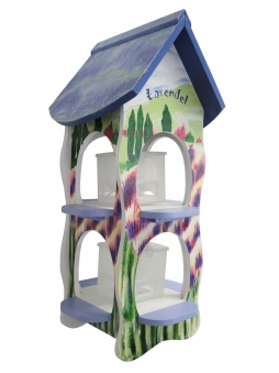 Vogelhaus / Futterhaus Habau Lavendel mit Silo und Ständer Bild 1