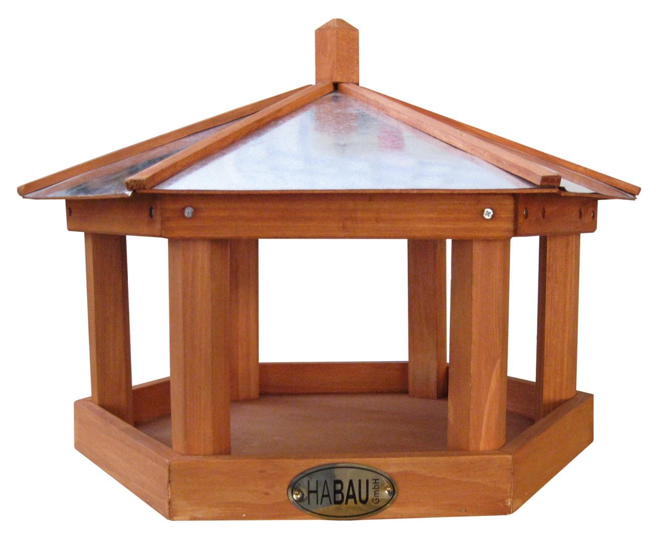 vogelhaus futterhaus habau rotdrossel mit st nder. Black Bedroom Furniture Sets. Home Design Ideas