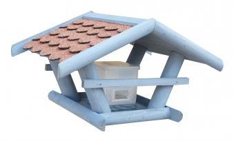 Vogelhaus / Futterhaus Habau Sperling mit Silo und Ständer Bild 1