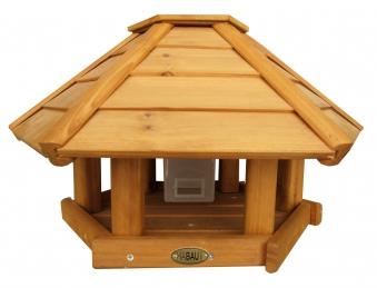 Vogelhaus / Futterhaus Habau Toronto mit Silo und Ständer Ø52x30cm Bild 1