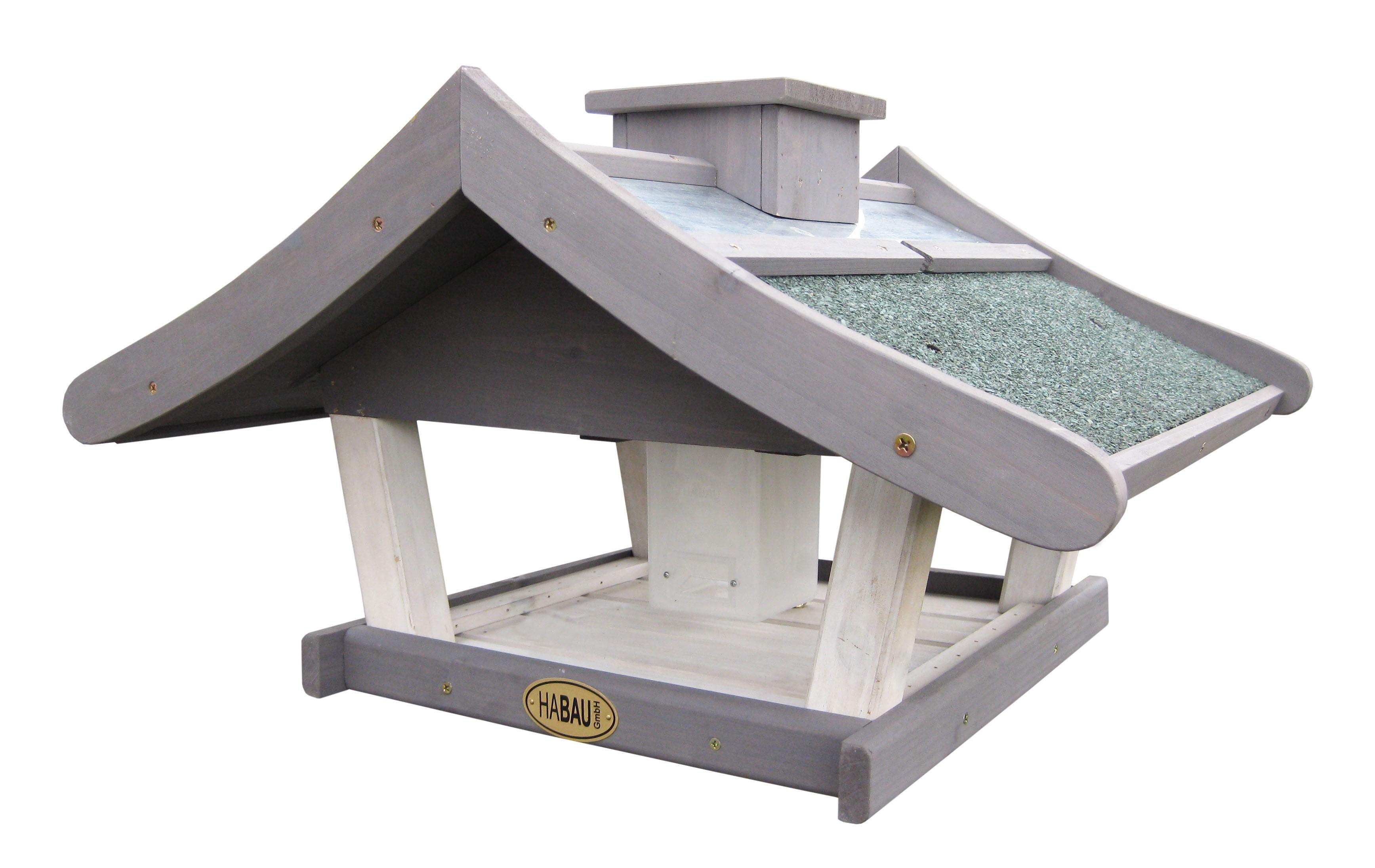 vogelhaus gr nland mit silo mit st nder bei. Black Bedroom Furniture Sets. Home Design Ideas