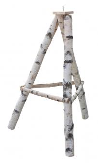 Vogelhausständer / Futterhausständer Habau 3-beinig Birke groß 100cm Bild 1