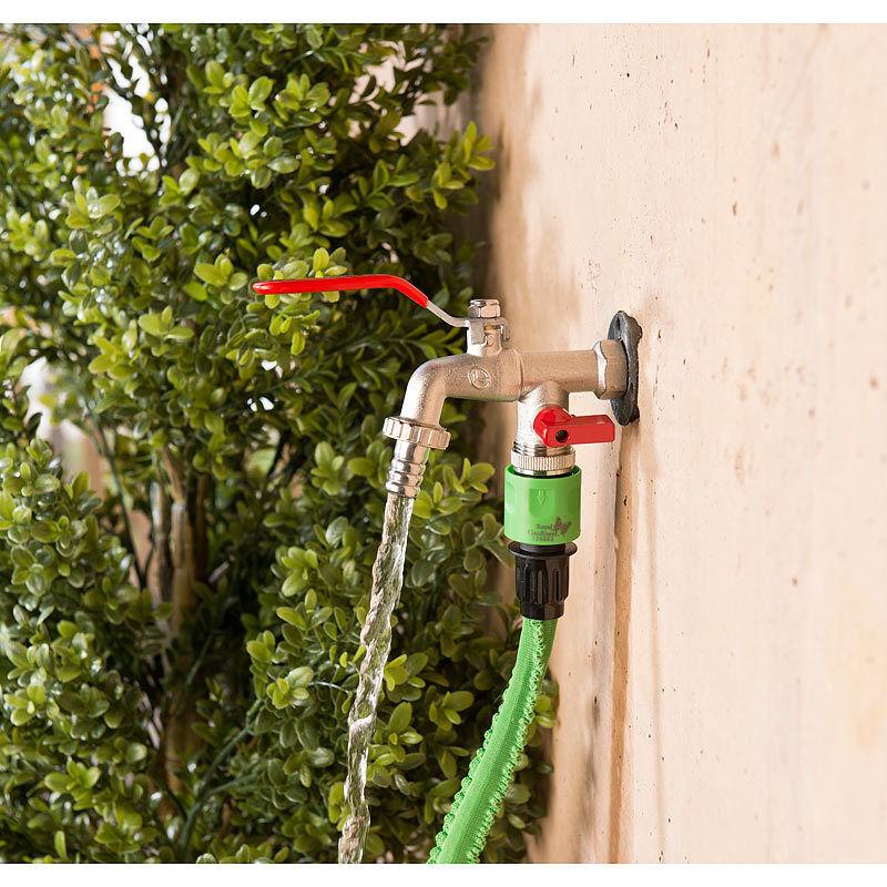 Wasserhahn doppelt Kugelventil Doppelwasserhahn Bild 2