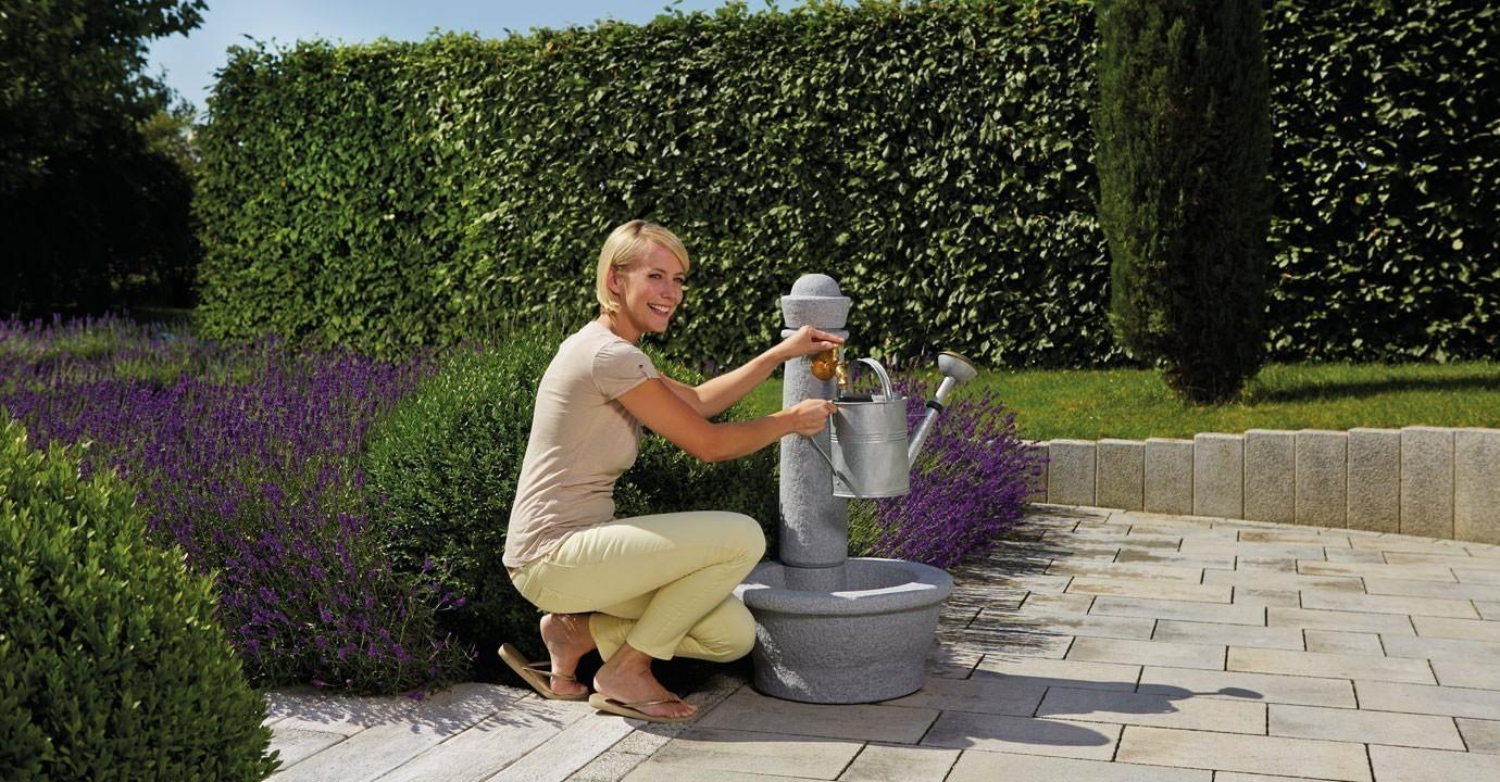 Wasserzapfsäule / Steinbrunnen Roma in Steinoptik granite GRAF 356101 Bild 2