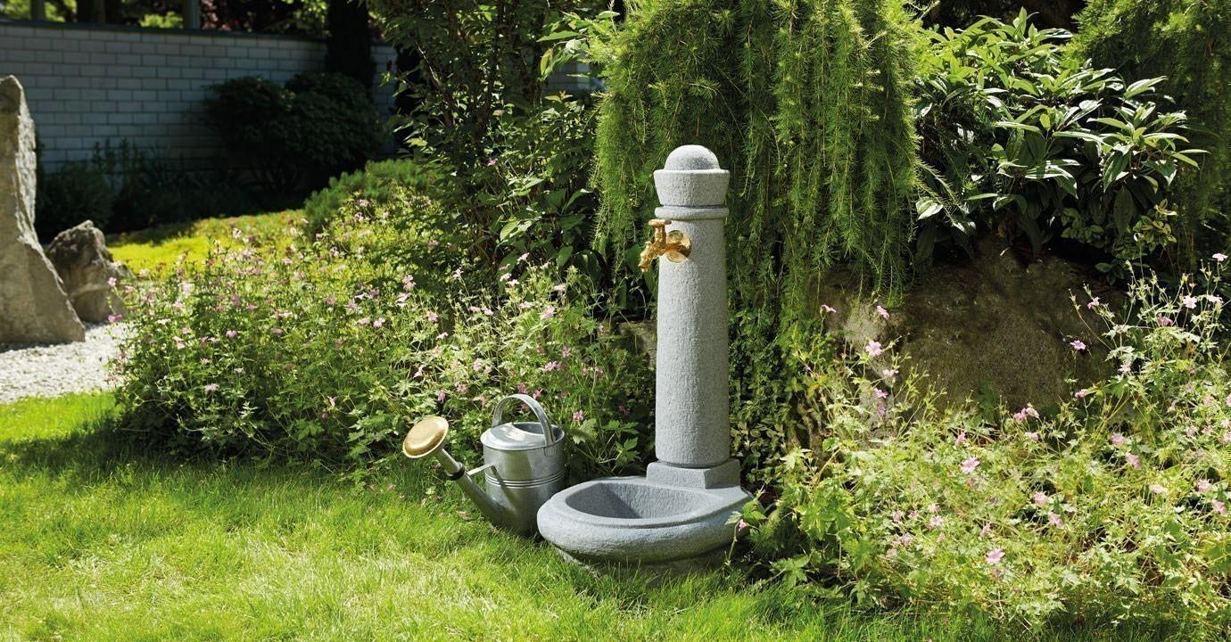 Wasserzapfsäule / Steinbrunnen Venezia Steinoptik granite GRAF 356100 Bild 2