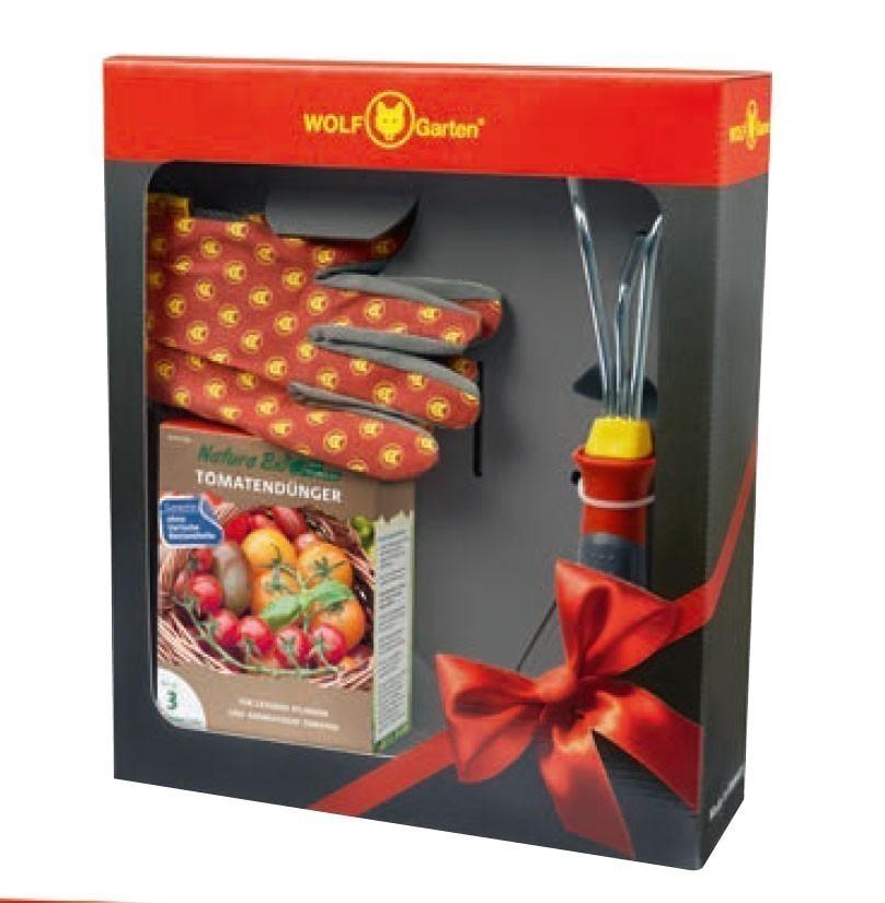 Wolf Garten Tomaten Set Dünger + Handgrubber + Handschuh Bild 1