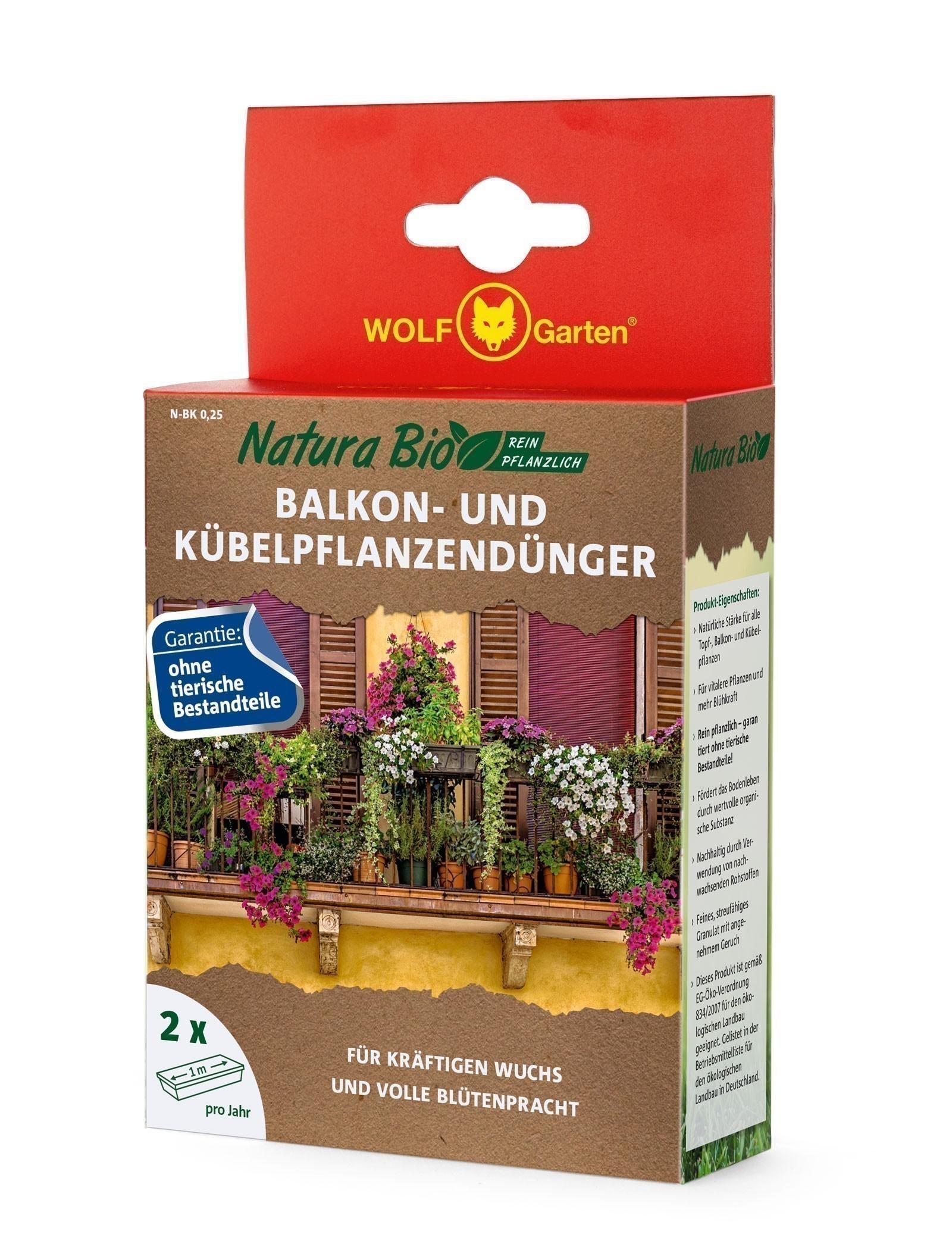 Wolf Garten Natura Bio Balkonkastendünger N-BK 0,25 Bild 1