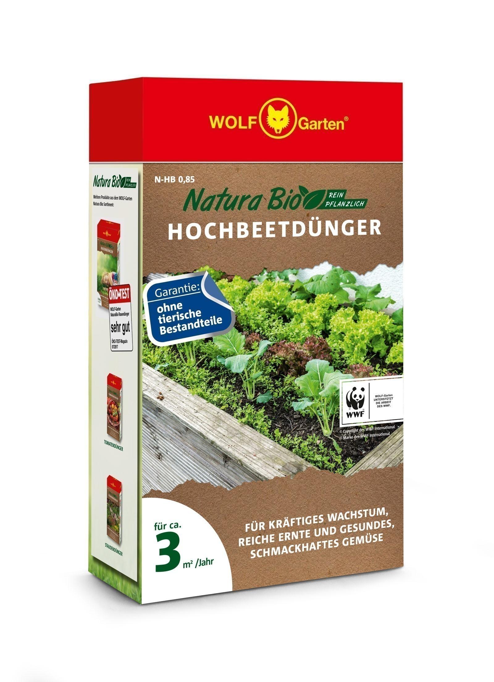 Wolf Garten Natura Bio Hochbeetdünger N-HB 0,85 für 3m² Bild 1