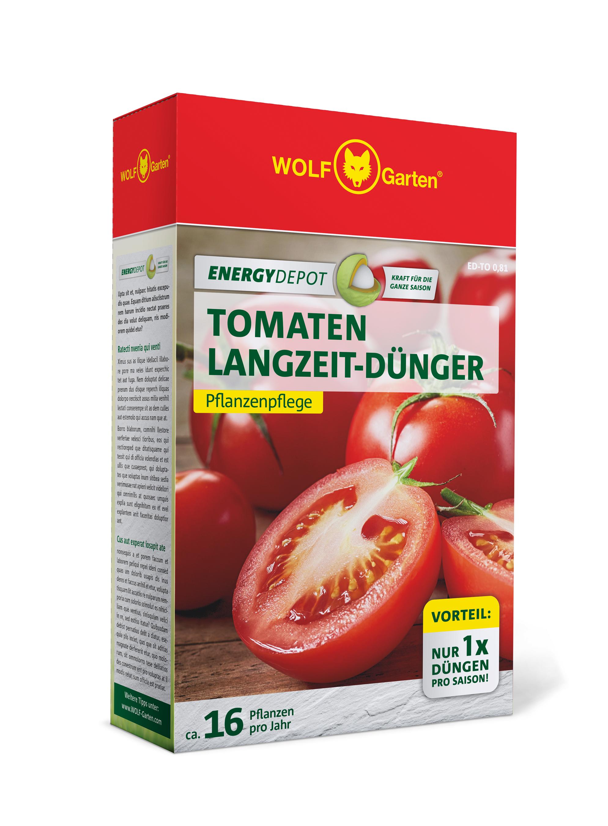 Wolf Garten Tomaten Langzeit-Dünger Energy Depot 810g Bild 1