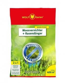 Wolf Garten 2 in 1 Moosvernichter + Rasendünger SW400 für 400m² Bild 1