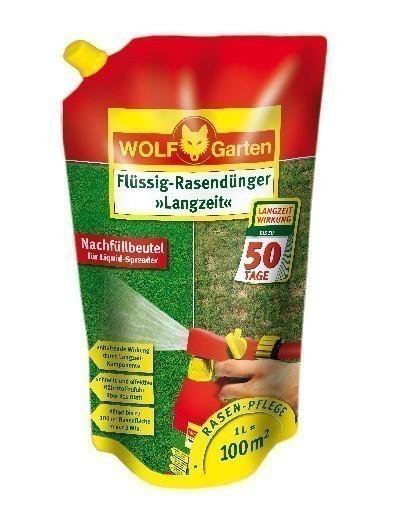 Wolf Garten Flüssig Rasendünger Langzeit LL100R Nachfüllpack für 100m² Bild 1