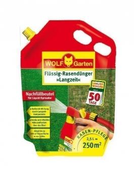 Wolf Garten Flüssig Rasendünger Langzeit LL250R Nachfüllpack für 250m² Bild 1