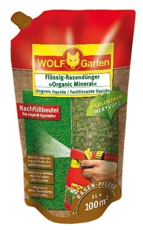 Wolf Garten Flüssig Rasendünger Organic Mineral LO100R Nachf. f. 100m² Bild 1