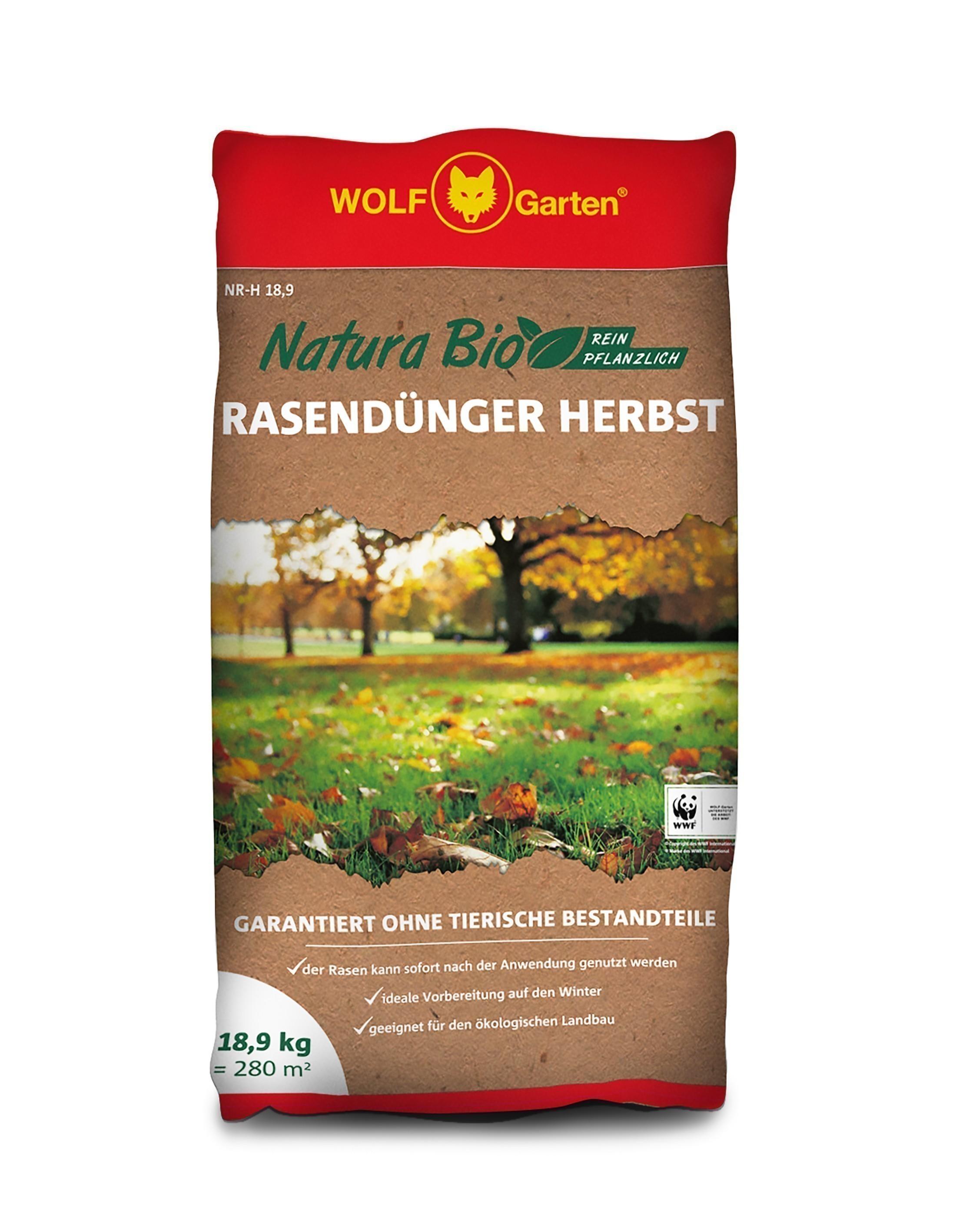 Wolf Garten Natura Bio Rasendünger NR-H 18,9  für 280 m² Bild 1