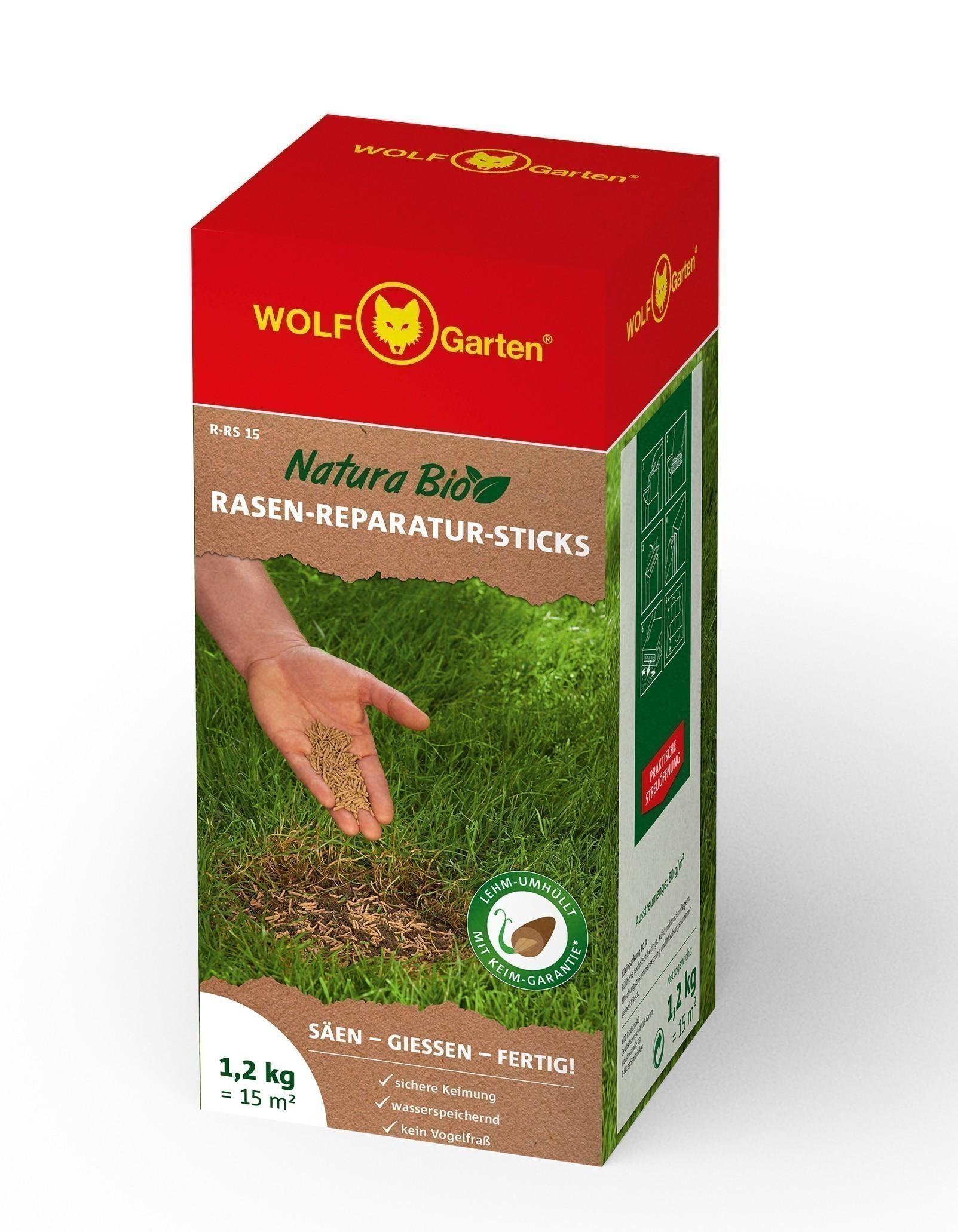 Wolf Garten Natura Bio Rasen-Reparatur-Sticks R-RS 15 für 15m² Bild 1