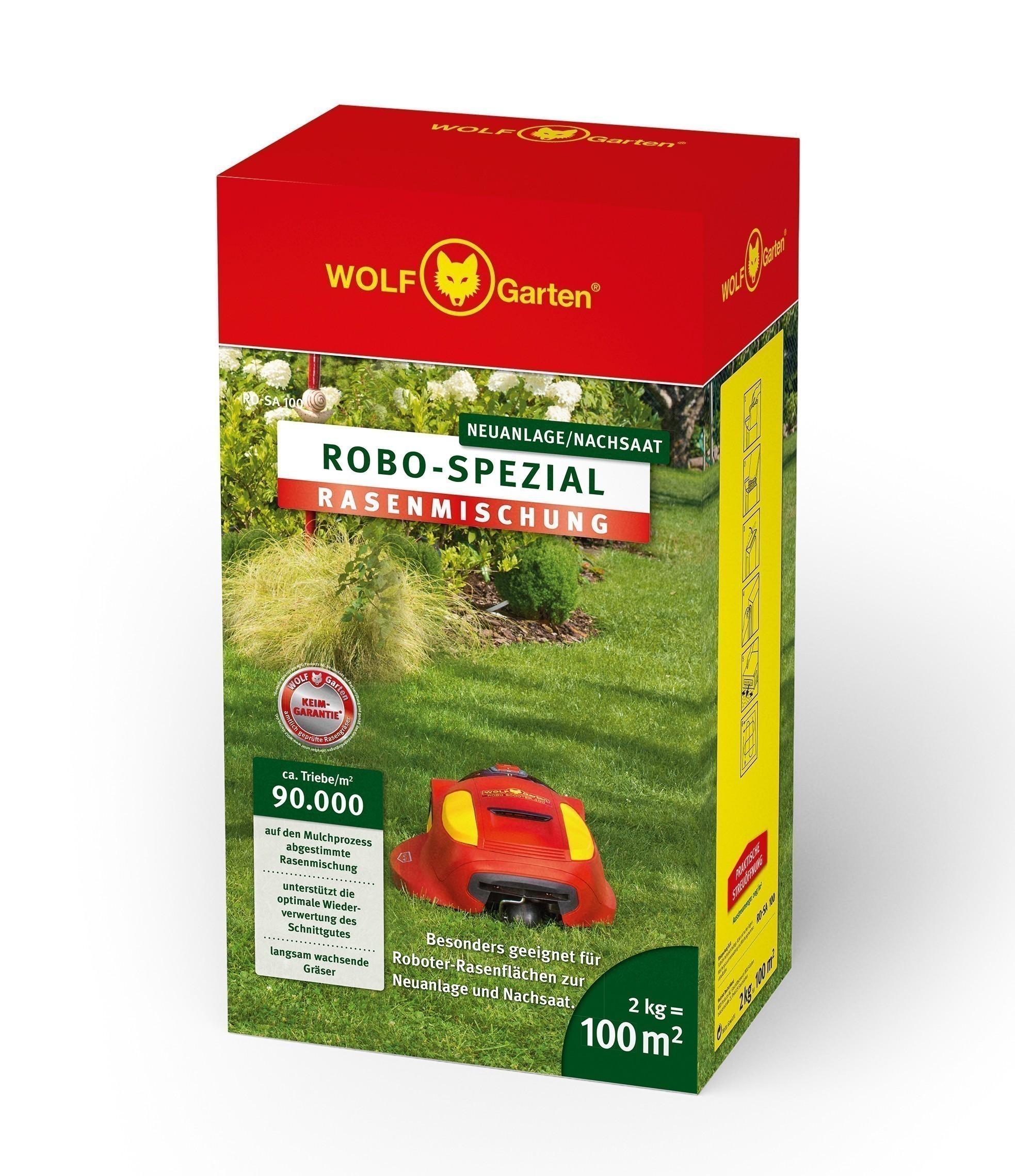Wolf Garten Rasensamen Saatgut Robo Spezial RO-SA 100 für 100m² Bild 1