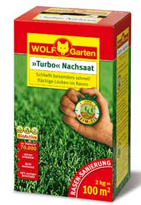 Wolf Garten Turbo Nachsaat LR100 zur Rasen Sanierung für 100m² Bild 1
