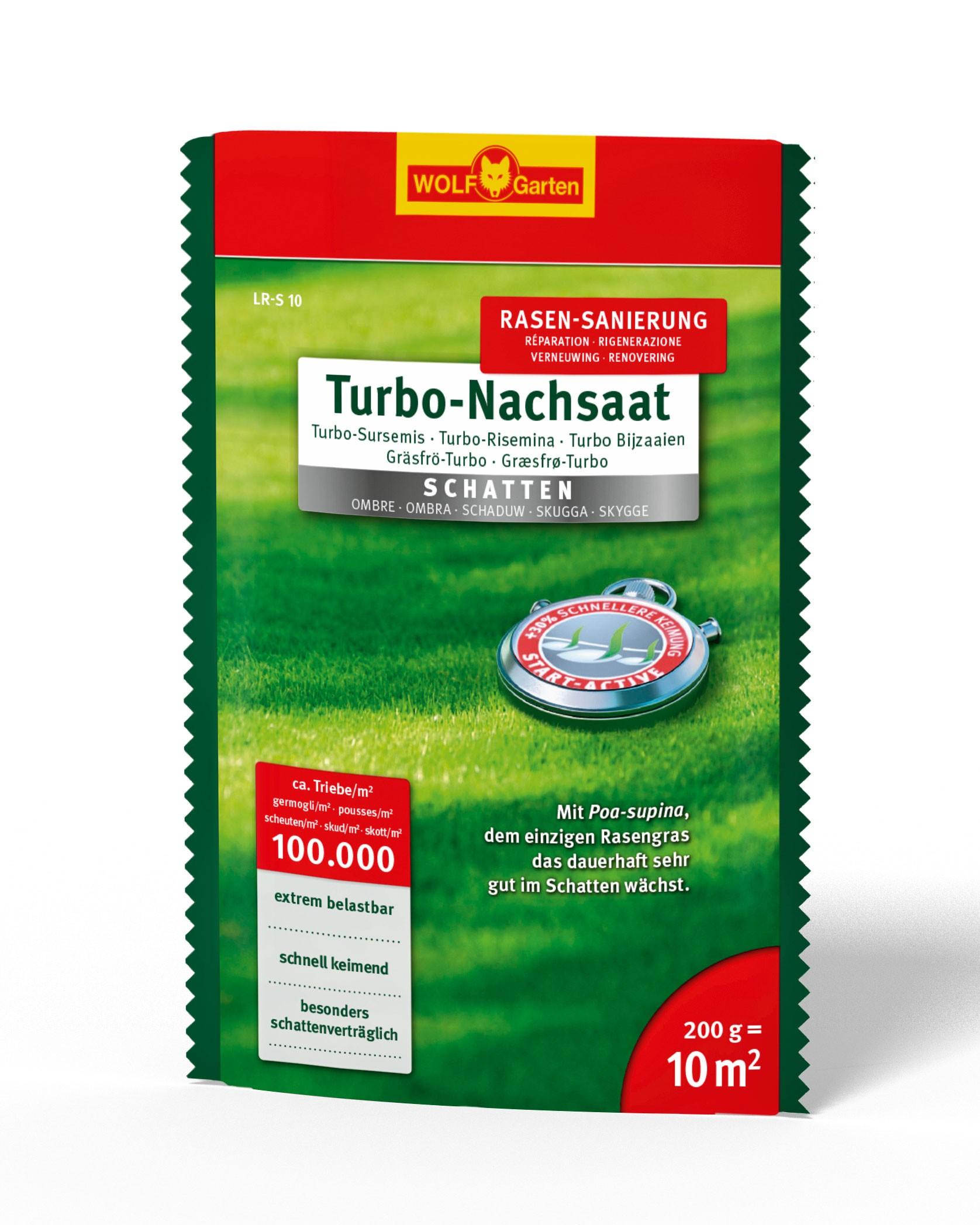 Wolf Garten Turbo Nachsaat Schatten Rasensaatgut L-RS10 für 10m² Bild 1