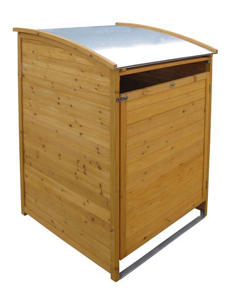 Serina MUlltonnenbox Holz 240 L ~ Habau Mülltonnenbox 240 L Holz ca 81x92x124cm 3151