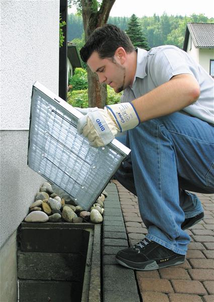 Licht-Keller-Schachtschutz aus Aluminiumgewebe 50355