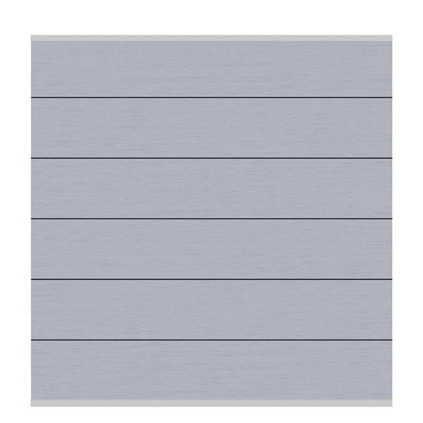 Sichtschutzzaun Holz Discount ~ Brügmann Sichtschutzzaun System WPC Zaunfeld Set XL grau  silber 178