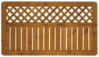 Sichtschutz / Zaun Sylt Zaunelement Douglasie geölt 180 x 100 cm Bild 2